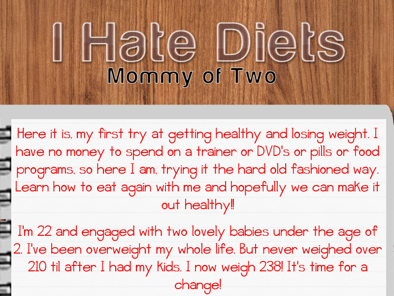I Hate Diets-Mommy Of 2
