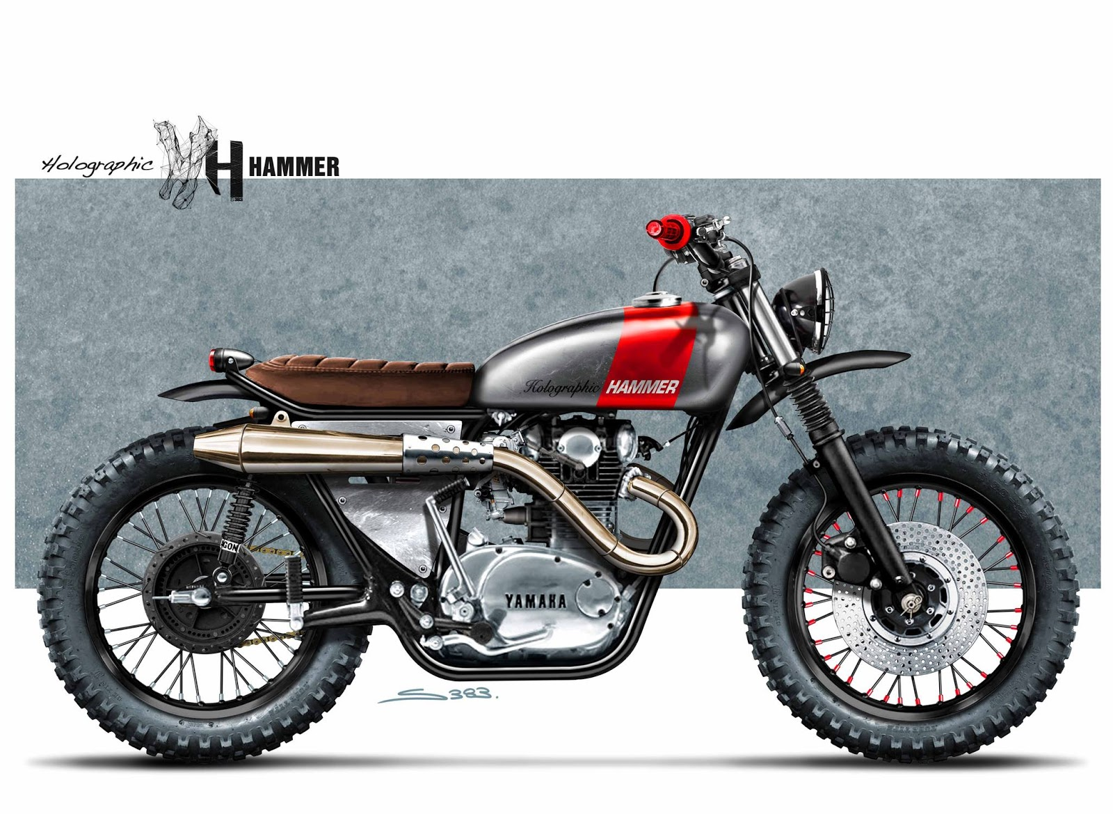 Racing Caf    Caf   Racer Concepts   Yamaha XS 650 Scrambler by
