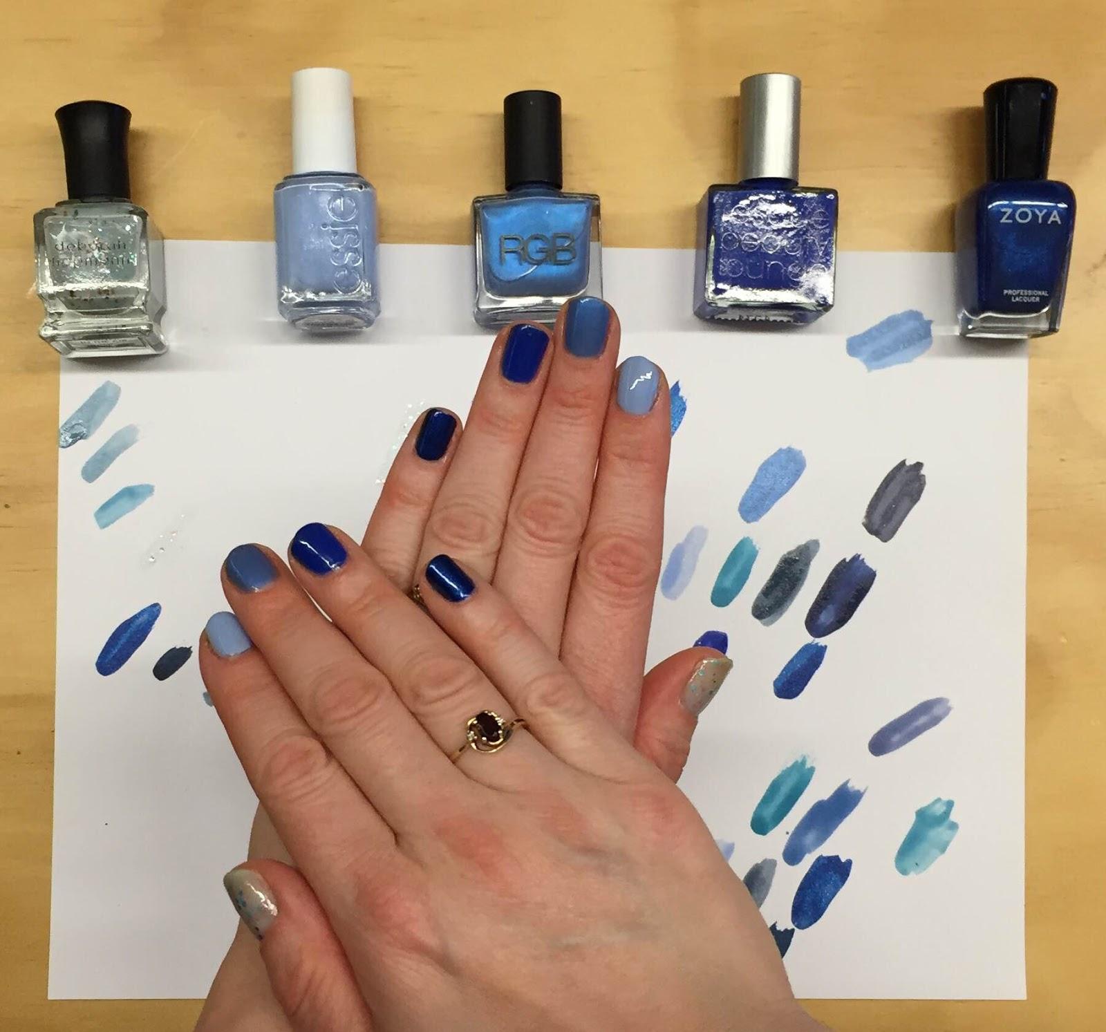 My Hy Hanukkah Nail Art A Blue Ombre Manicure