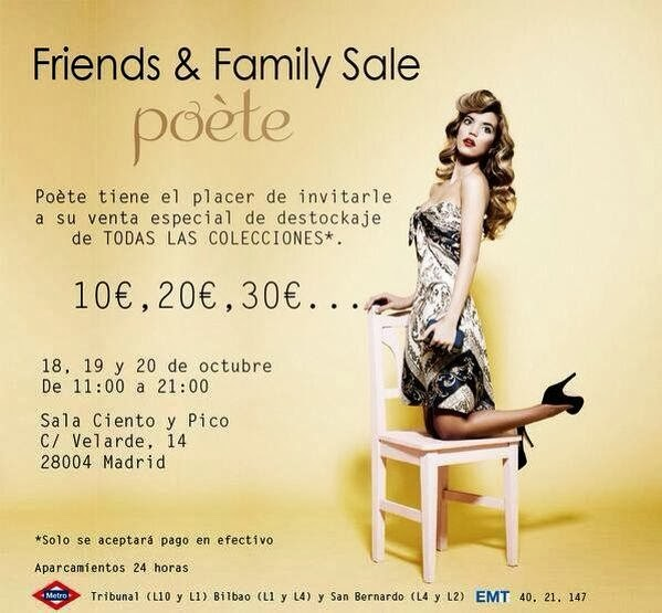 OUTLET POETE EN MADRID