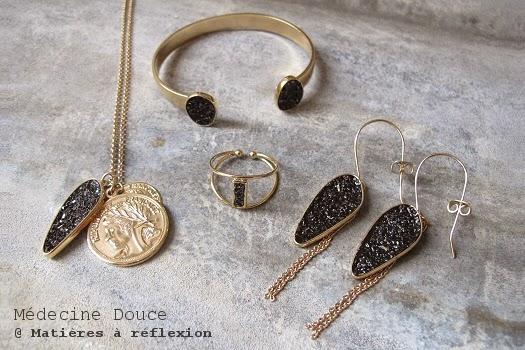 Bijoux Médecine Douce bague bracelet boucles collier 'Lingot'