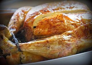 Pollo relleno glaseado