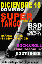 DICIEMBRE 16 DOMINGO DE SUPER TANGO TODO UN DÍA APRENDIENDO TANGO. EN BSD BAILAS MÁLAGA CENTRO.