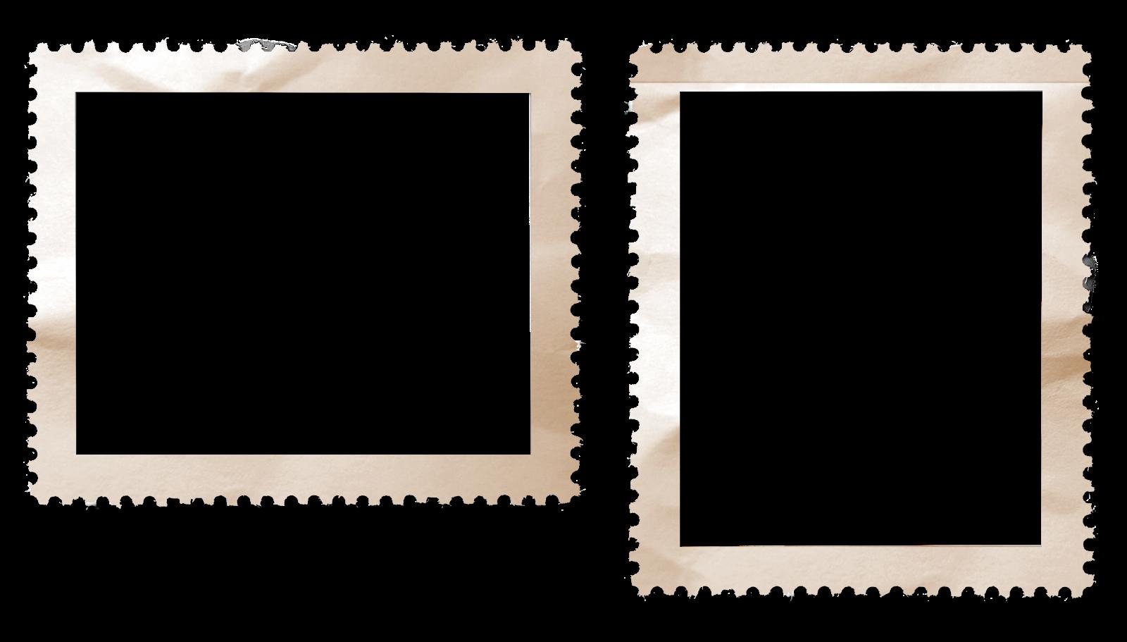 Postage Stamp Border Wrinkled