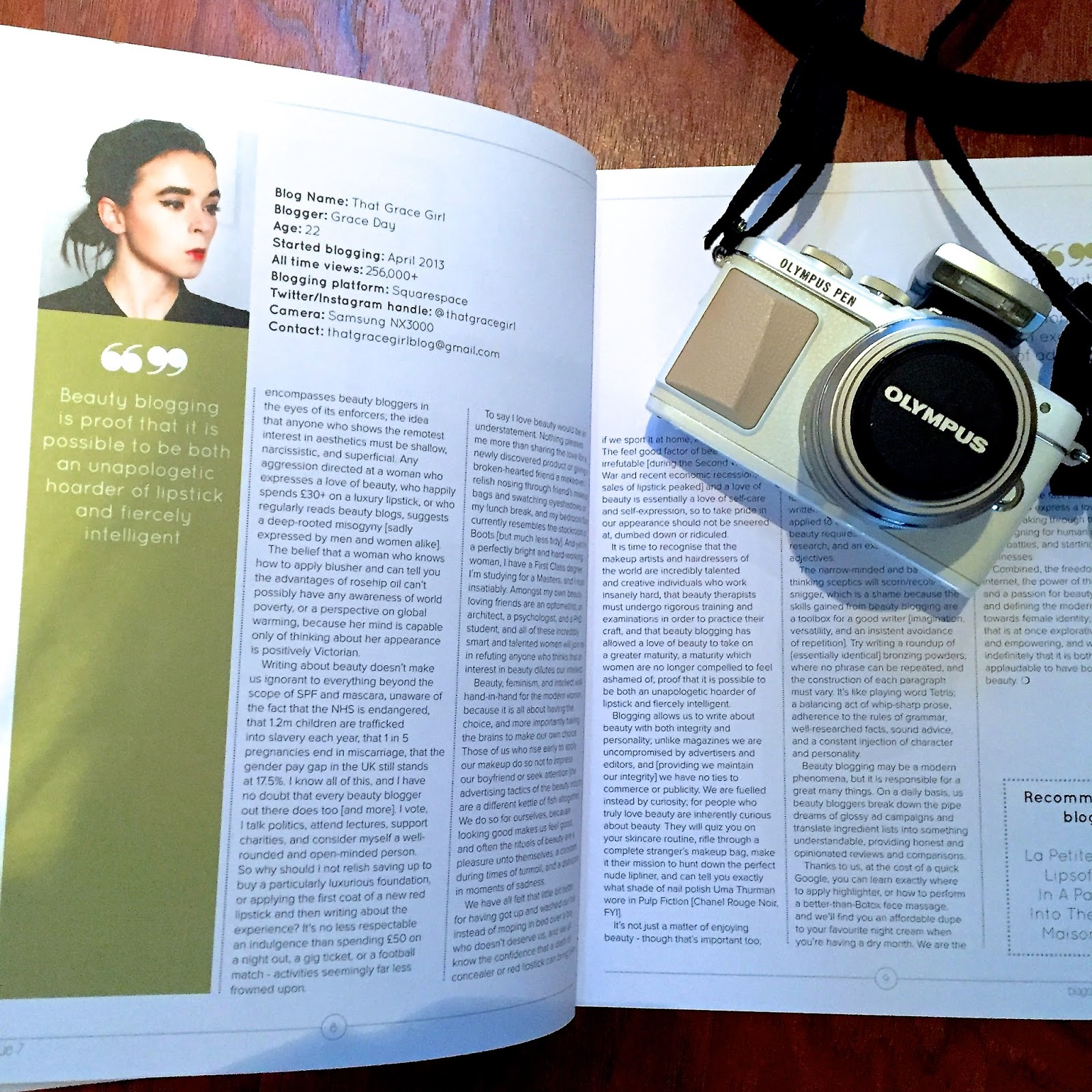 Blogosphere thatgracegirl blogger magazine blog post review favourites