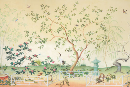 Pin by marietjie van der walt illyria house on chinoiserie for Chinoiserie mural wallpaper