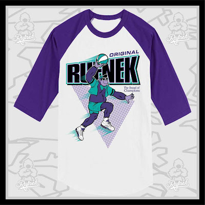 Grape Ape x Wheaties x Air Jordan V Retro Grapes Raglan Baseball T-Shirt by Rufnek x Matt Turney (of Brand New Intention)