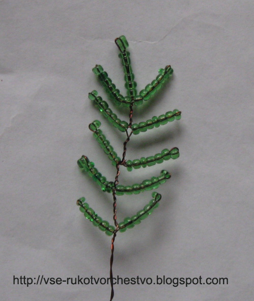 Дерево из бисера мимоза мастер класс