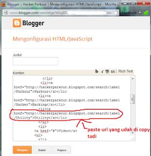edit tata letak html/javascript
