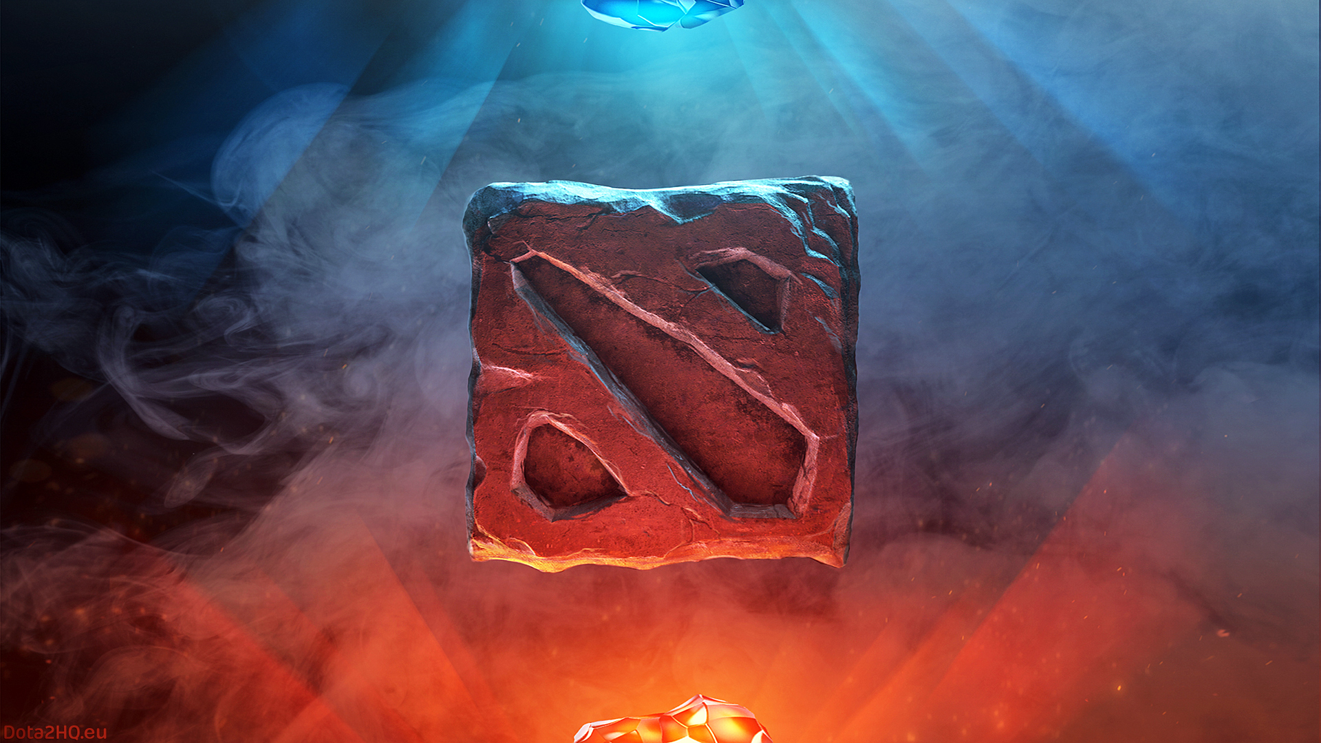 dota 2 logo fire 0r wallpaper hd
