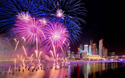Papel de Parede Ano Novo Fogos de Artificios New Year Fireworks hd wallpaper free
