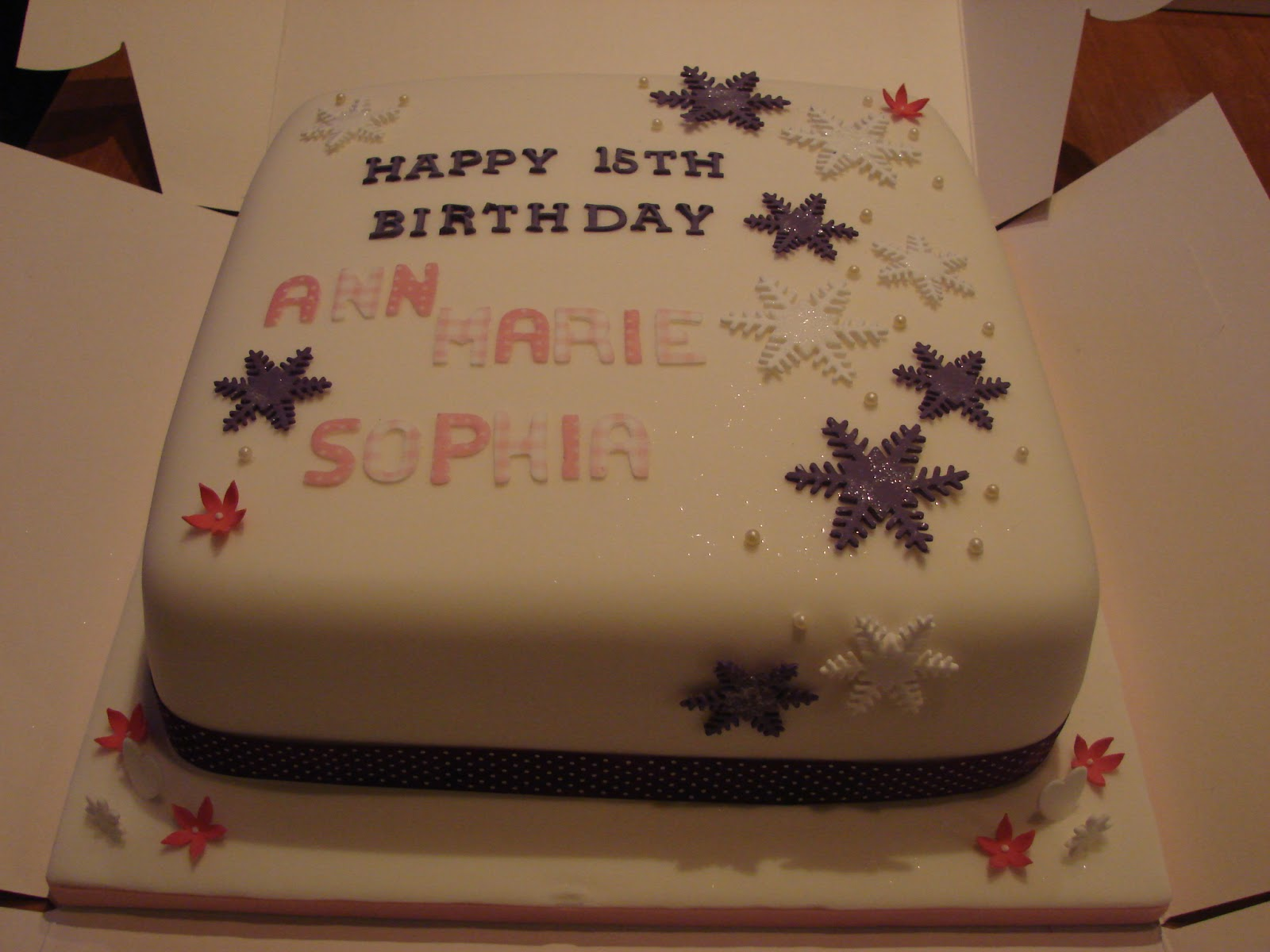 Sweet And Fancy 15th Birthday Cake