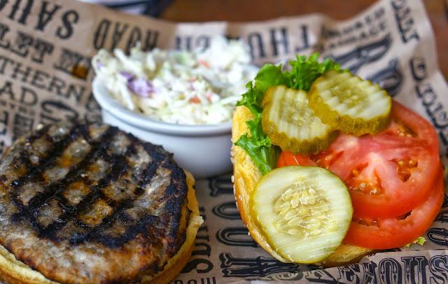 turkey burger, slaw, Calhoun's knoxville tn