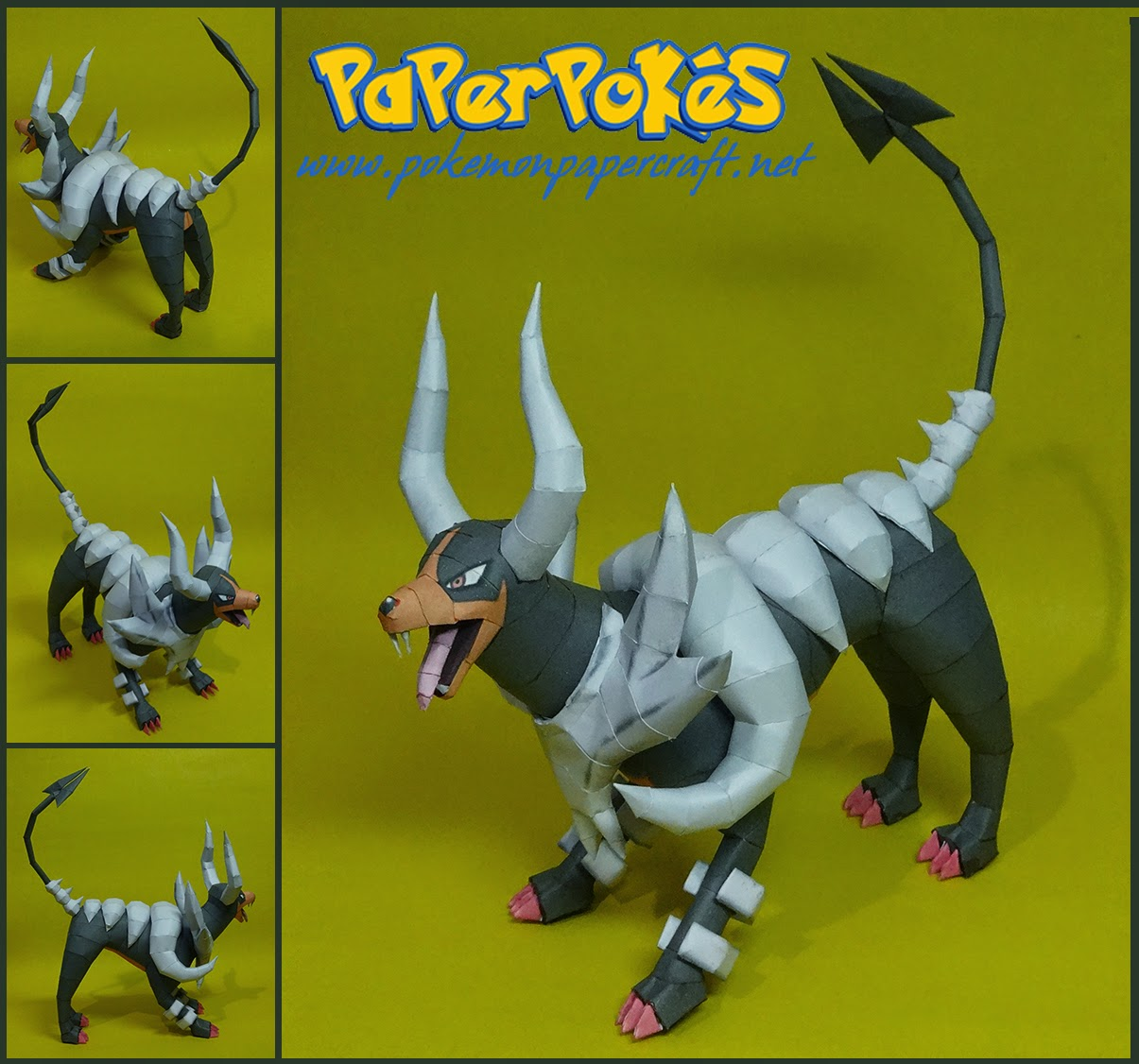 Mega Houndoom Papercraft