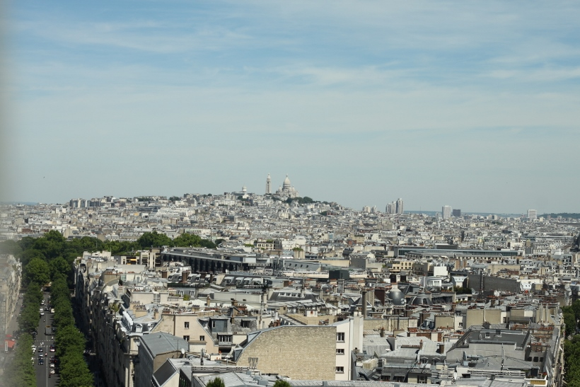 sacre cour from arc de triomphe