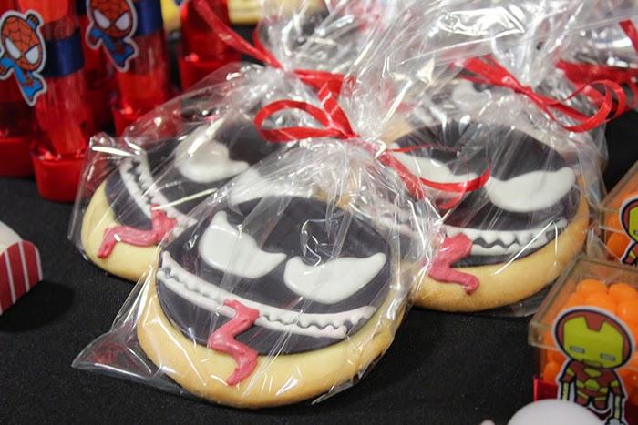 Festa, Heróis, Marvel, Baby, Super, Aniversário Infantil, Brasília, biscoitos decorados, cookies, Venom