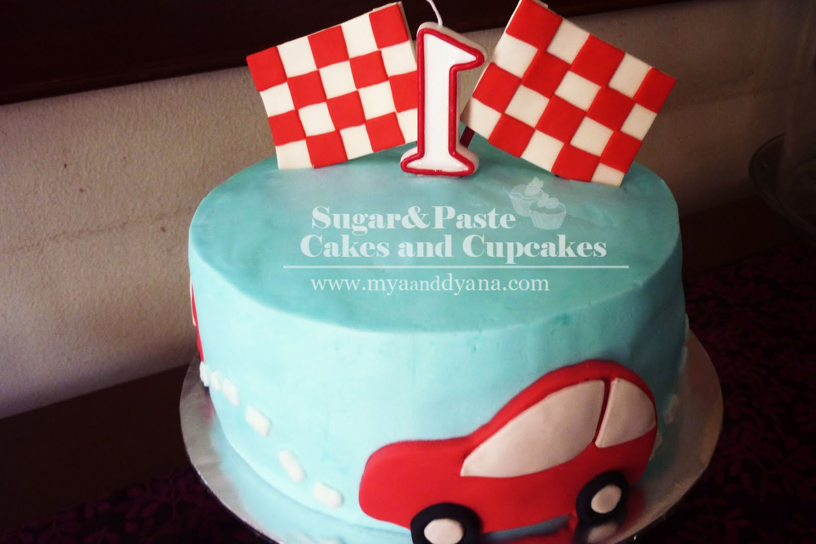 SugarPaste Cakes and Cupcakes That RED Car Birthday Cake