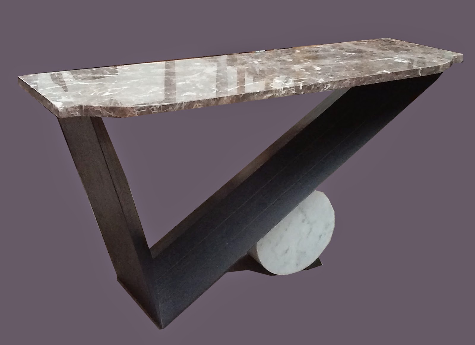 Uhuru Furniture Collectibles Marble Top Sofa Table