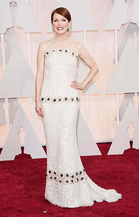 Джулиан Мур в блестяща рокля с пайети на Оскари 2015