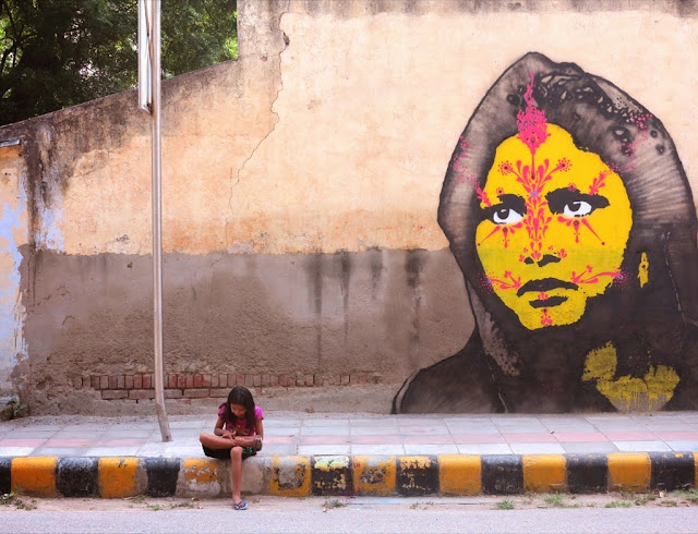 Colombian Street Artist Stinkfish Visits India Where He Dropped Several new Pieces. 4
