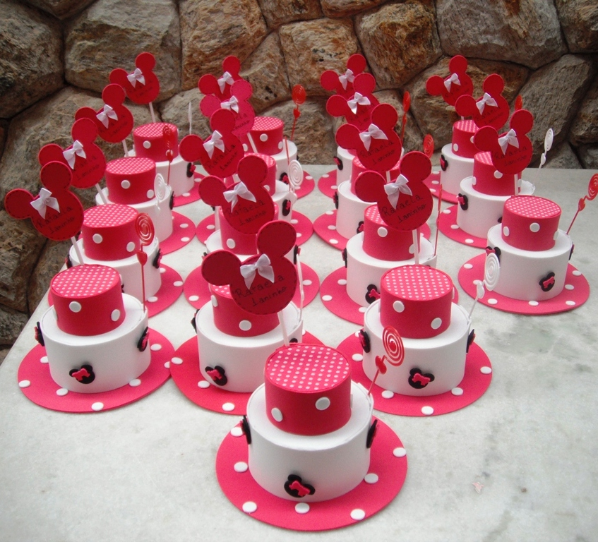 Centro de mesa para festa infantil Minnie Mouse - YouTube