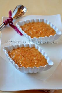 arroz doce moreno e cremoso