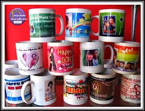 Mug bergambar Foto ananda/keluarga
