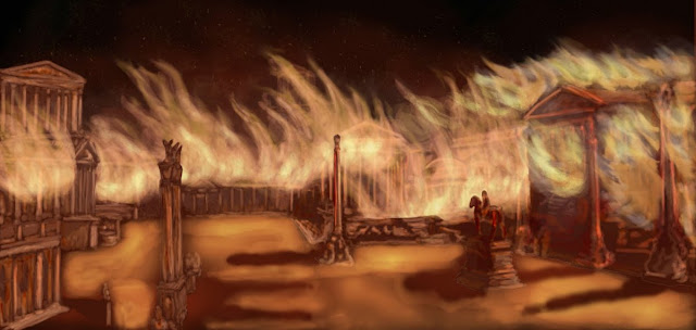 Incendio y antigua Roma