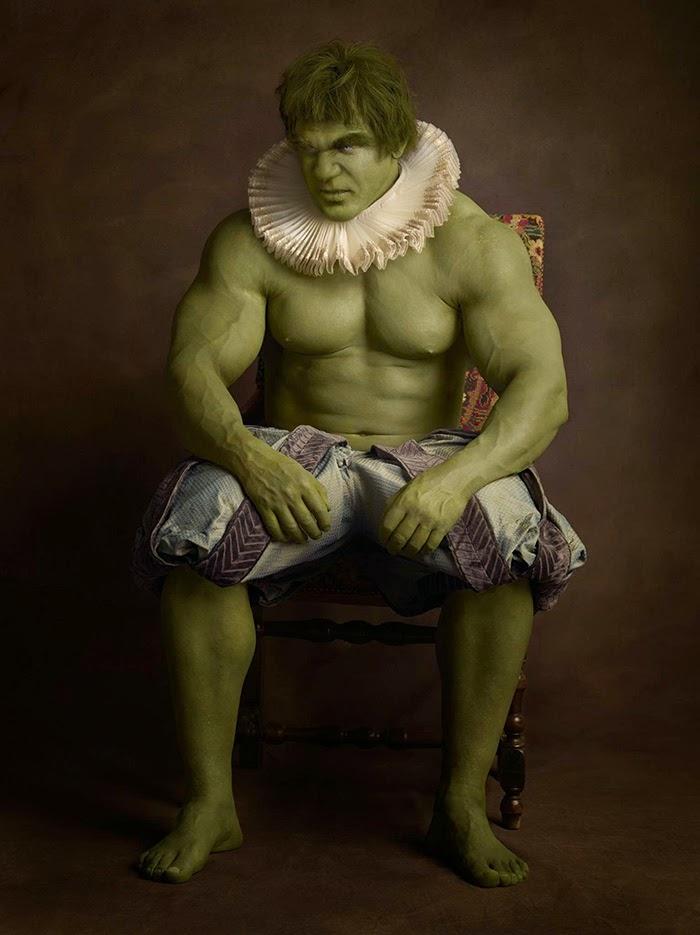 supeheroes en el siglo 16 hulk