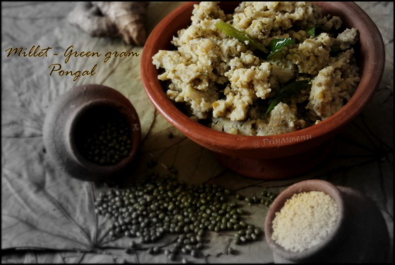 Priyas menu yum yum yummy food for food lovers millet green millet green gram pongal diet friendly recipe 35 100dietrecipes forumfinder Choice Image