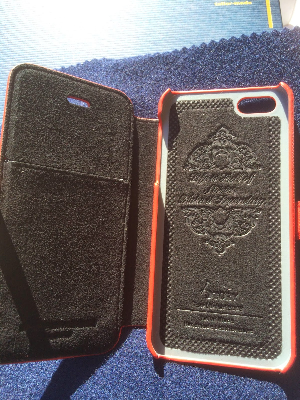 red leather iPhone 5s case leather story leather