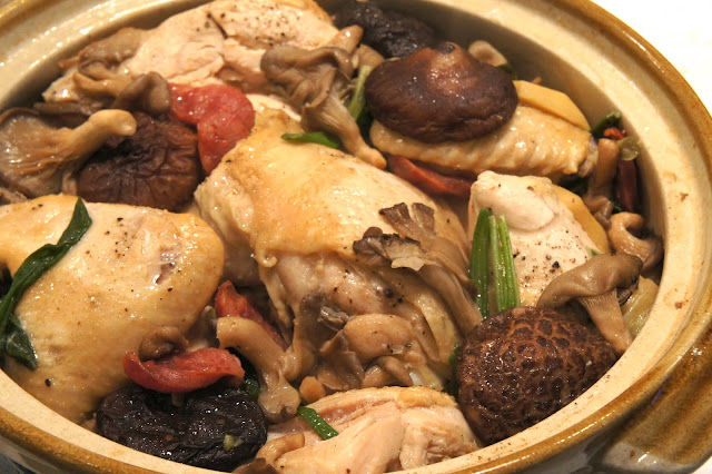 THE MARY BUFFET: Clay Pot Chicken with Chinese Sausage and Mushrooms
