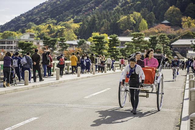 Jinrikisha en Japón