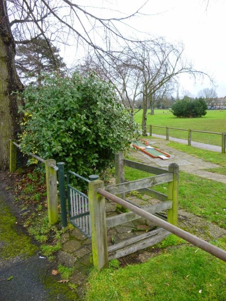 Mini Golf course at Woodlands Park in Gravesend, Kent