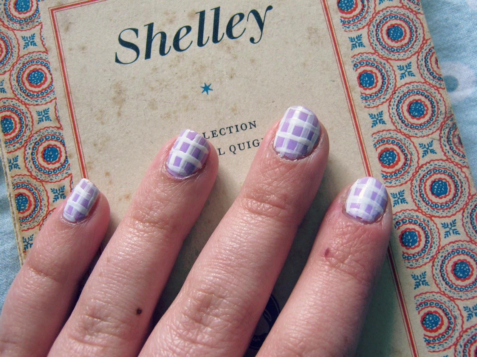 Nail Art Pastel Checks