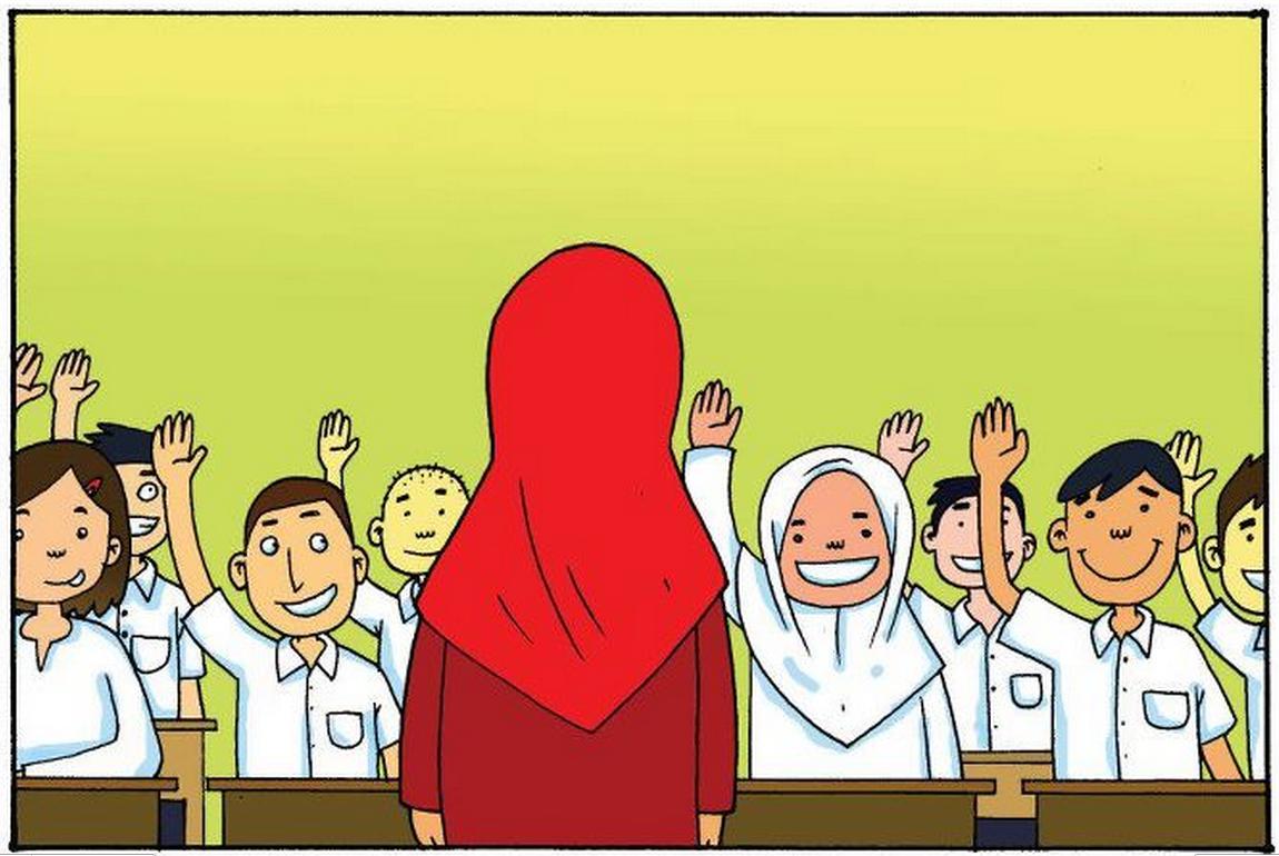 Semua pelajar gembira dan bersemangat tinggi bagi meneruskan sesi