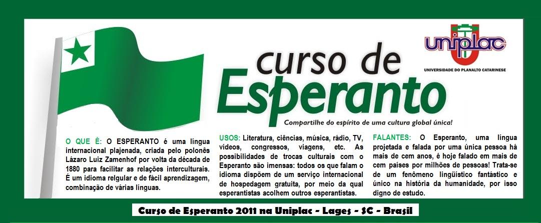 Esperanto na Uniplac