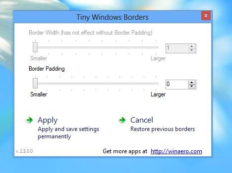 windows 8 margini
