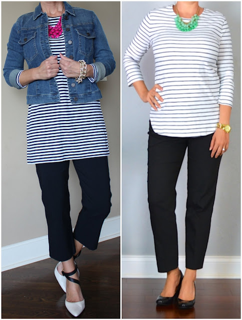 Outfit Posts inspiration picture, black and white, work wear, casual wear, look for less