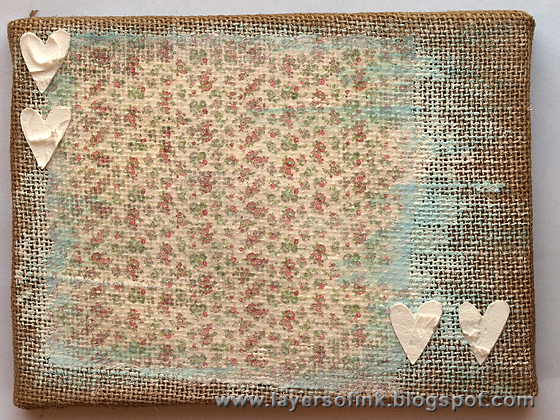 Burlap And Lace Background Image