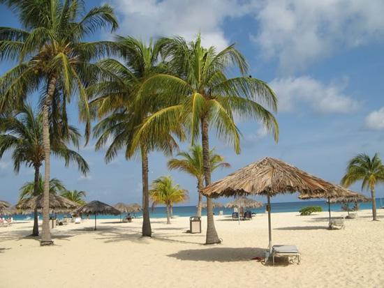 Sandstrand auf Aruba