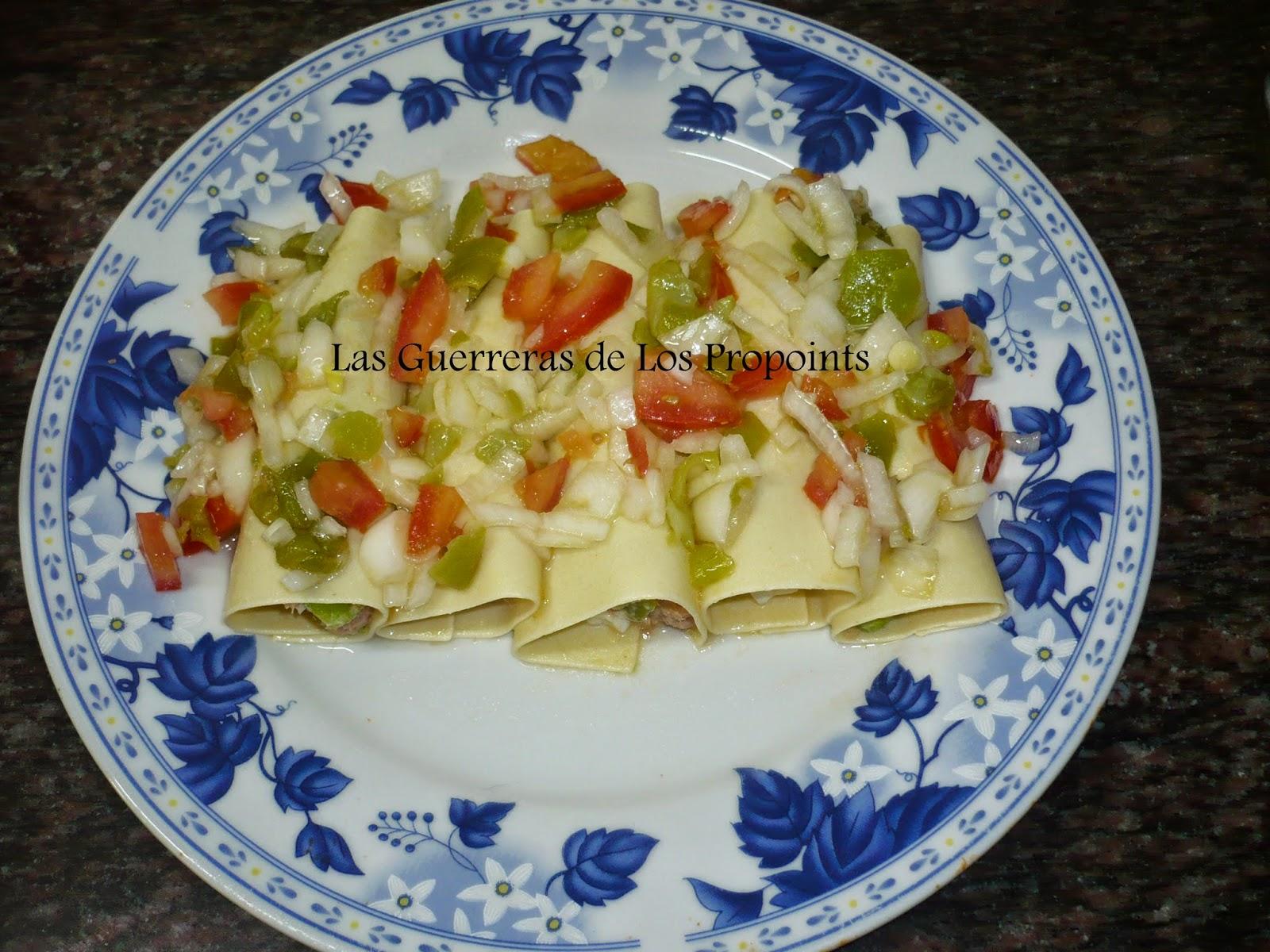 En la cocina con ana dieta pp canelones de verano con at n - Ana cocina facil ...