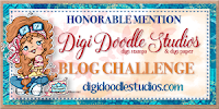 3 x Digi Doodle Honorable Mention