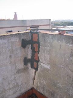 Reparación de grietas y desconchados en fachadas y elementos exteriores