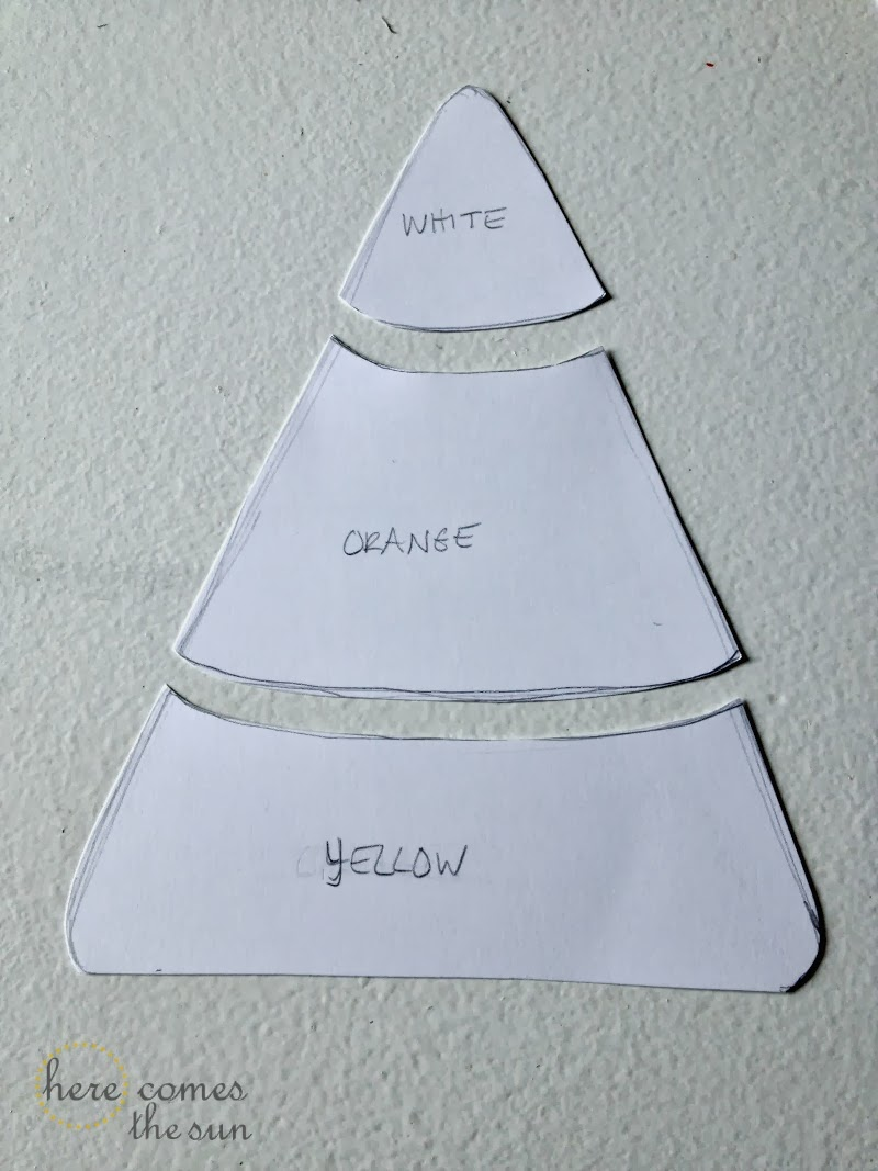 candy corn bunting banner tutorial via herecomesthesunblognet