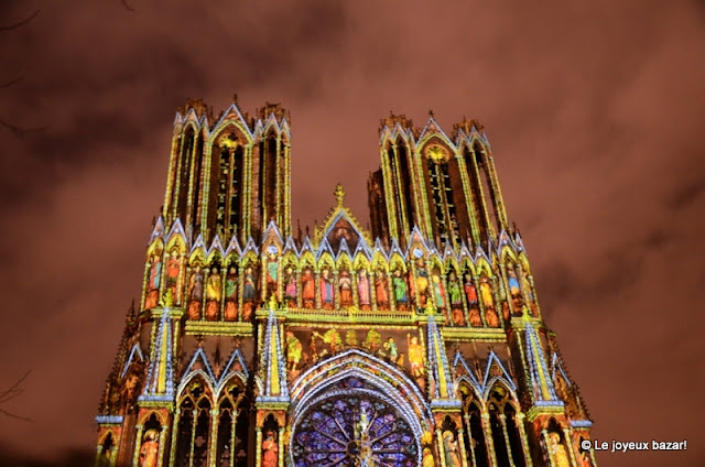 Reims - cathedrale - son et lumiere - rêve de couleurs