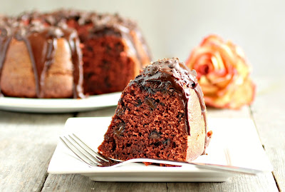 Red Velvet Chocolate Chip Bundt Cake
