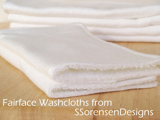 buy Fairface soft washcloths for sensitive skin and cold compress relief
