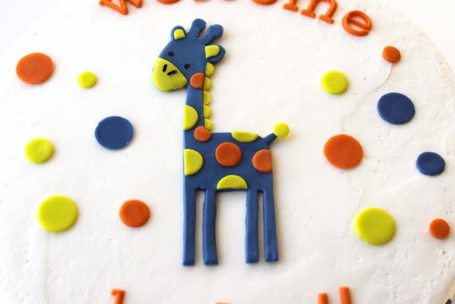 Baby Giraffe Baby Shower Cake MN