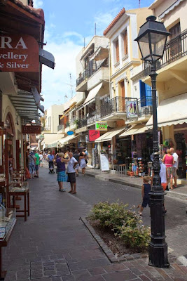 Old town of Rethymnon in Crete